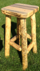 Live Edge Log Bar Stool