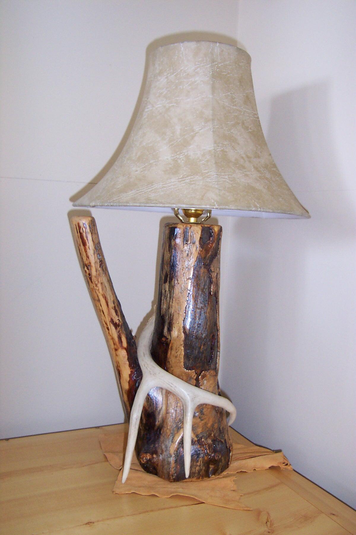 Custom Antler Table Lamp