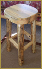 Log Slab Barstool