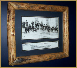 Wild West Print: also example of Log Picture Frame