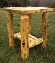 Live Edge Grizzly Nightstand / End Table