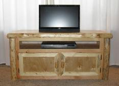 Wide Screen Log TV Stand 2-Door