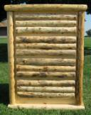 4-Drawer Chest: Log Front with Footprints