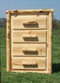 4 Drawer Chest: Pine Front Drawers