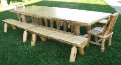 Log Dining Set